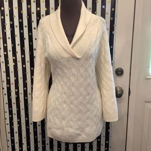 Gorgeous White Coldwater Creek Sweater